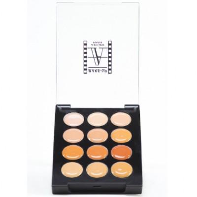 Палетка корректоров восковых, 12 цветов Make-Up Atelier Paris P12C/A светлая кожа: фото