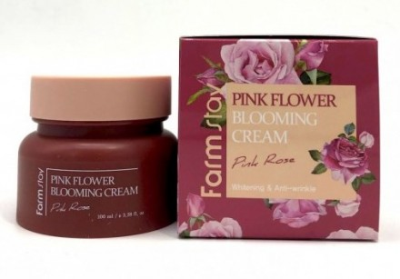 Крем с экстрактом розы FARMSTAY Pink flower blooming cream pink rose 100 мл: фото