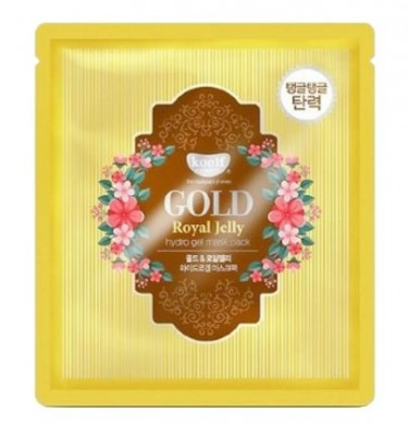 "Маска гидрогелевая ""золото и пчелиное маточное молочко"" PETITFEE KOELF Hydro gel mask pack jewel series gold & royal jelly 30г: фото"