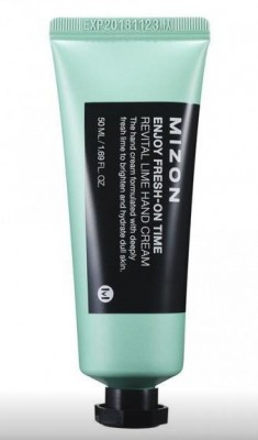 Крем для рук с экстрактом лайма MIZON Enjoy Fresh On-Time Revital Lime Hand Cream: фото