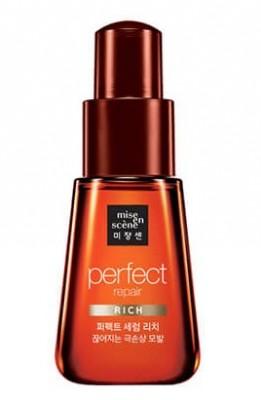 Восстанавливающая сыворотка-масло для сухих волос MISE EN SCENE Perfect Serum Rich: фото