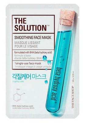 Тканевая маска смягчающая THE FACE SHOP The solution smoothing face mask 20 г: фото