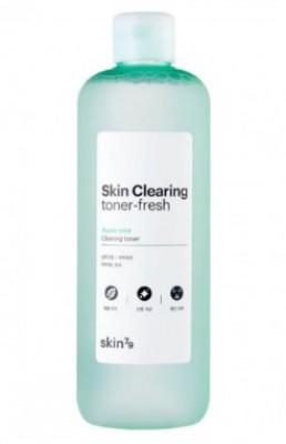 Очищающий освежающий тонер с мятой SKIN79 Skin clearing toner fresh 500 мл: фото