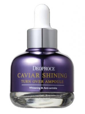 Сыворотка с экстрактом черной икры DEOPROCE Caviar shining turn over ampoule 30г: фото
