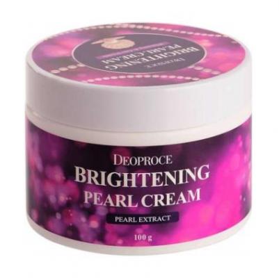 Крем с жемчугом для сияния кожи DEOPROCE Moisture brightening pearl cream 100г: фото