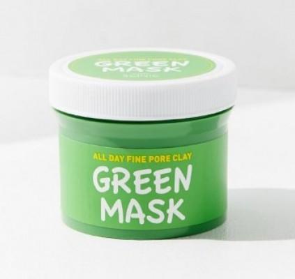 Маска для лица с глиной для сужения пор SCINIC All day fine pore clay green mask 100г: фото