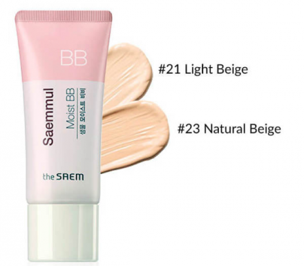 Крем ББ увлажняющий THE SAEM Saemmul Moist BB 01. Light Beige SPF37 PA++ 15гр: фото