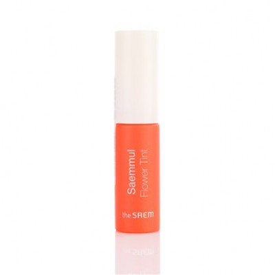 Тинт для губ цветочный THE SAEM Saemmul Flower Tint OR01 cheeky Calendula 10мл: фото