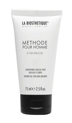 Гель-шампунь для душа мужской La Biosthetique Pour Homme Le Gel Douche 75мл: фото