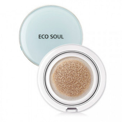 Тональное покрытие THE SAEM Eco Soul Power Proof Cooling BB Cushion 01 13гр: фото