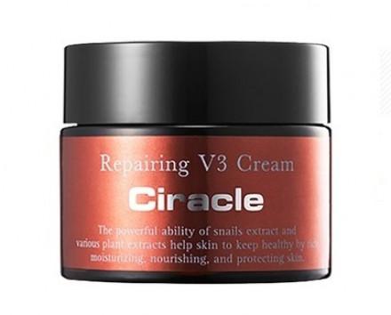 Крем для лица восстанавливающий Ciracle Repairing V3 Snail Cream 50мл: фото