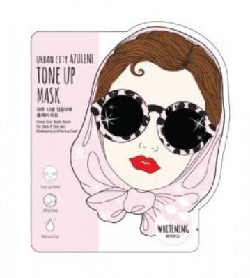 Маска для лица тканевая Baviphat Urban City Azulene Tone-up Mask Whitening 25г: фото