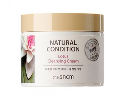 Крем очищающий лотос THE SAEM NATURAL CONDITION Lotus Cleansing Cream N2 300мл: фото
