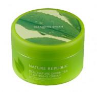 Крем очищающий с экстрактом зеленого чая NATURE REPUBLIC Real Nature Cleansing Cream Green Tea 200мл: фото