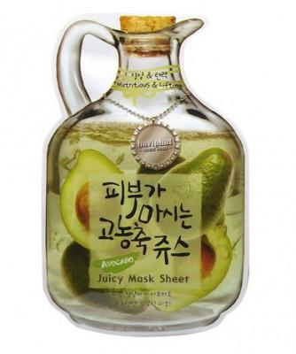 Маска тканевая фруктовая авокадо Baviphat Avocado Juicy Mask Sheet Nutritious&Lifting 23г: фото