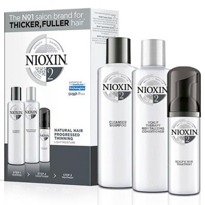 Набор для волос 3х-ступенчатая система XXL-формат Nioxin System2 300+300+100 мл: фото