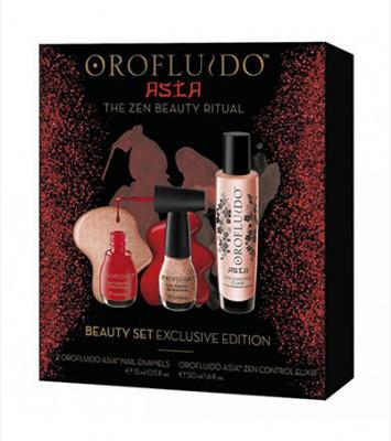 Подарочный набор Orofluido Asia: Эликсир 50мл + лаки для ногтей: фото