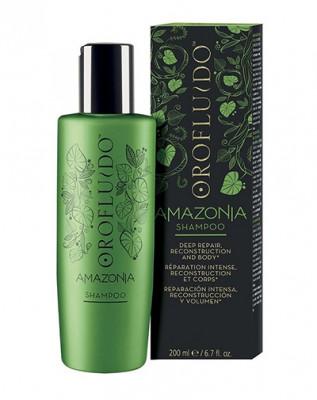 Шампунь для ослабленных и поврежденных волос Orofluido Amazonia Shampoo 200 мл: фото