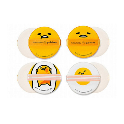 Спонжи Holika Holika Gudetama Chop Chop Cushion Puff Set 4P - Чоп Чоп, набор из 4 шт: фото