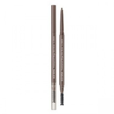 Карандаш для бровей мягкий THE SAEM Eco Soul Waterproof Soft Eyebrow 04 Red Brown 0.5гр: фото