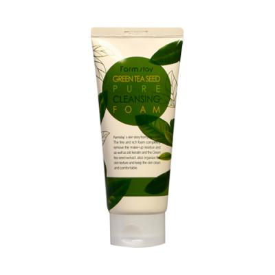 Пенка для умывания с экстрактом зеленого чая FarmStay Green Tea Seed Pure Cleansing Foam: фото