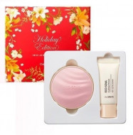 Набор для макияжа THE SAEM: Праймер+кушон Eco Soul Essence Cushion All Cover 13 Special Set 13гр+15мл: фото