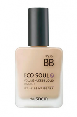 ВВ-Крем THE SAEM Eco Soul Volume Nude BB Liquid 01 Light Beige 25мл: фото