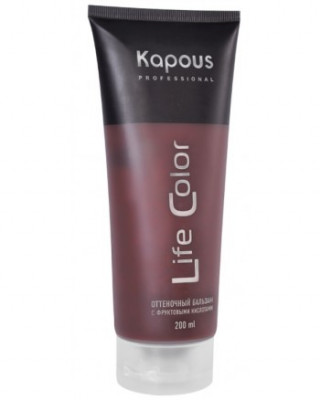 Бальзам оттеночный для волос Гранатовый красный Kapous Professional Life Color 200 мл: фото