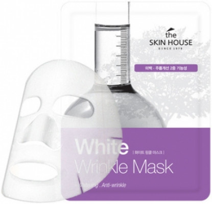 Тканевая маска осветляющая THE SKIN HOUSE White Wrinkle Mask 20г: фото