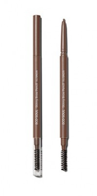 Карандаш для бровей Eco Soul Skinny Brow Pencil 01 Natural Brown: фото
