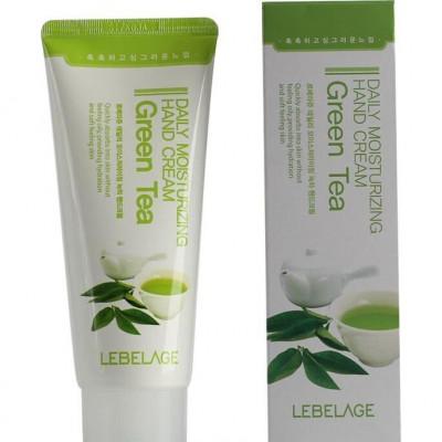 Крем для рук увлажняющий с экстрактом зеленого чая Daily Moisturizing Green Tea Hand Cream 100мл, LEBELAGE: фото