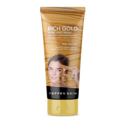 Маска-пленка золотая с лифтинг-эффектом Dermal Rich Gold Purifying Mask Peel-off Type 100 г: фото