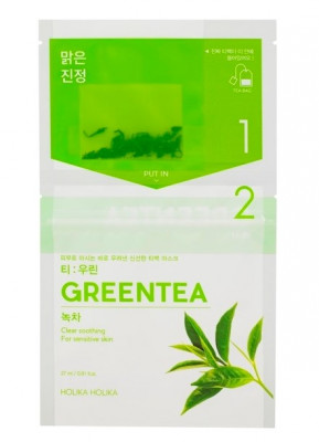 Маска-чай с зеленым чаем Holika Holika Instantly Brewing Tea Bag Mask Green Tea 29 мл: фото