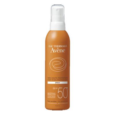 Солнцезащитный спрей SPF 50+ Avene, Suncare, 200 мл: фото
