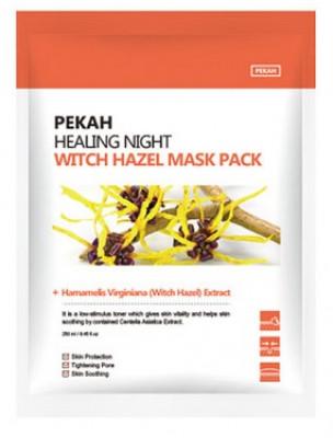 Тканевая маска с экстрактом гамамелиса Healing Night Witch Hazel Mask Pack 25мл*5шт: фото
