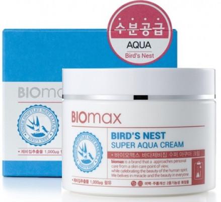 Крем для лица с экстрактом ласточкиного гнезда BIOmax Bird's Nest Super Aqua Cream 100 мл: фото