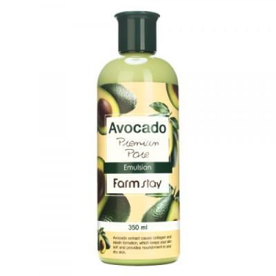 Эмульсия антивозрастная с экстрактом авокадо AVOCADO PREMIUM PORE EMULSION 350мл, FarmStay: фото