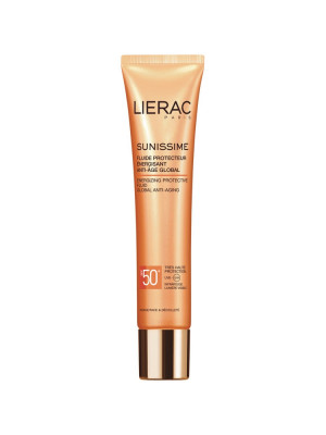 Солнцезащитный флюид Lierac Sunissime Energizing Protective Fluid Global Anti-Aging SPF50, 40мл: фото
