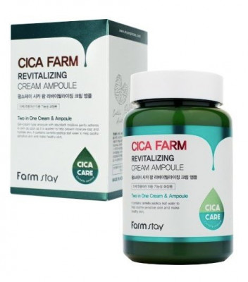 Крем ампульный восстанавливающий с центеллой азиатской FarmStay CICA FARM REVITALIZING CREAM AMPOULE 250мл: фото