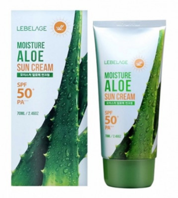 Солнцезащитный увлажняющий крем с экстрактом алоэ LEBELAGE Moisture Aloe Sun Cream SPF50+ PA+++ 70мл: фото